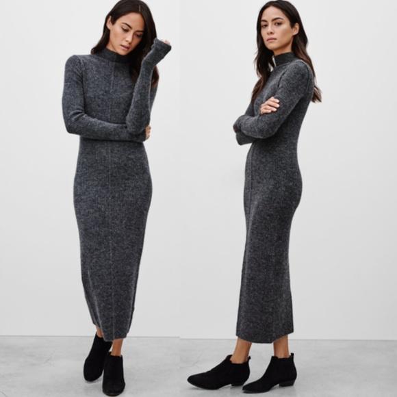 Aritzia Dresses & Skirts - Aritzia Wilfred Free Patricia Midi Sweater Dress
